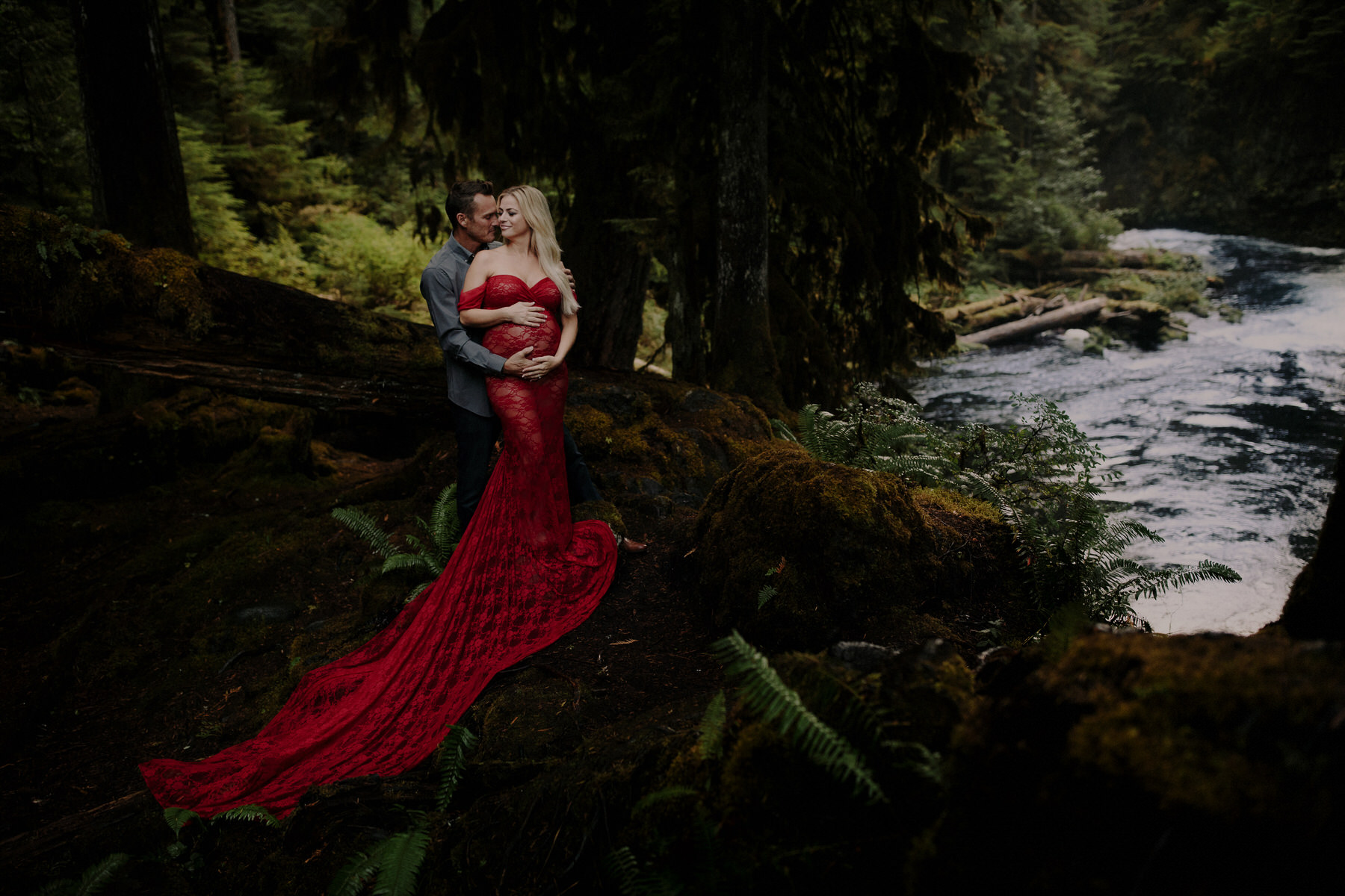Sahalie Falls Koosah Falls Engagement Session