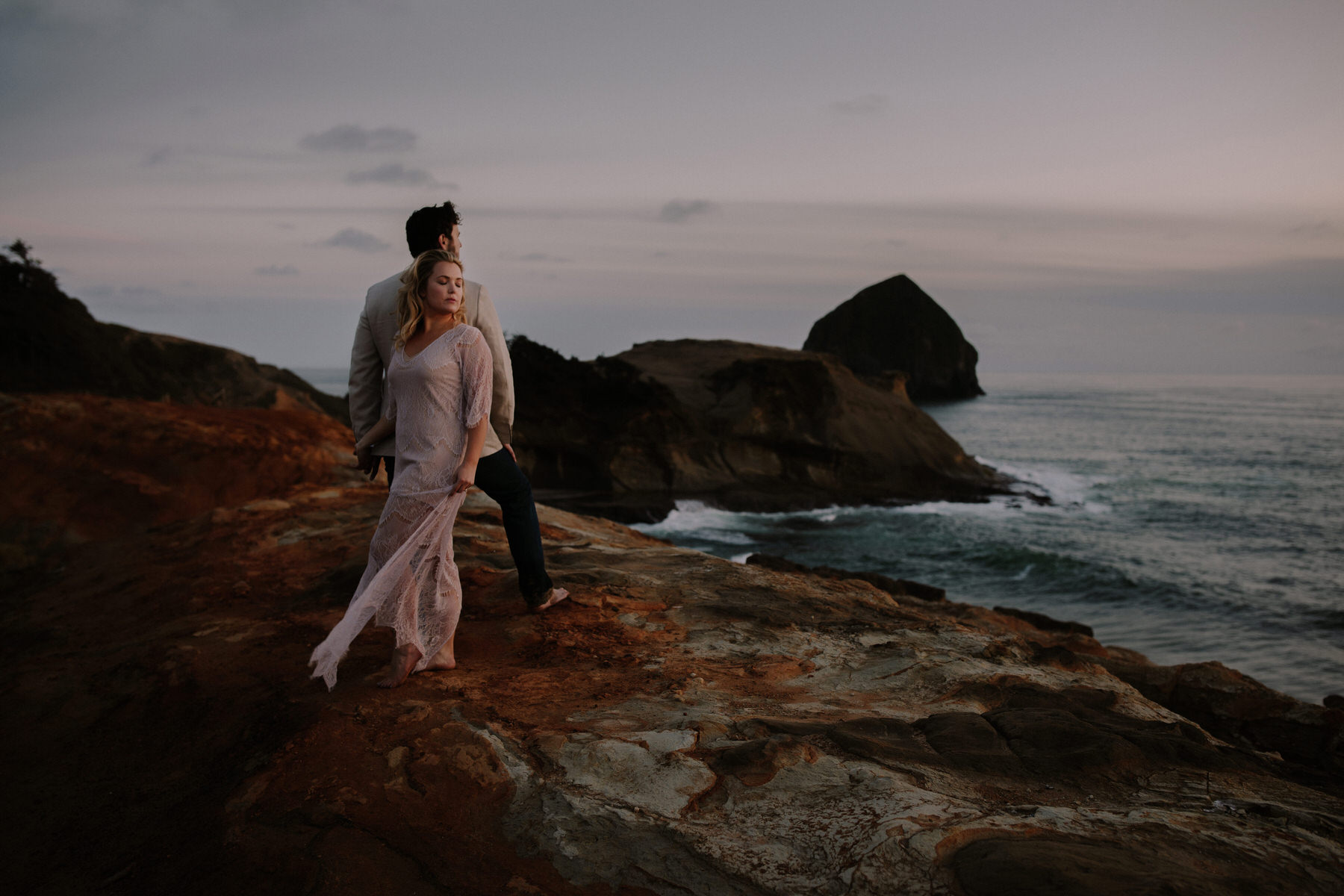 Oregon Coast Intimate Engagement Session