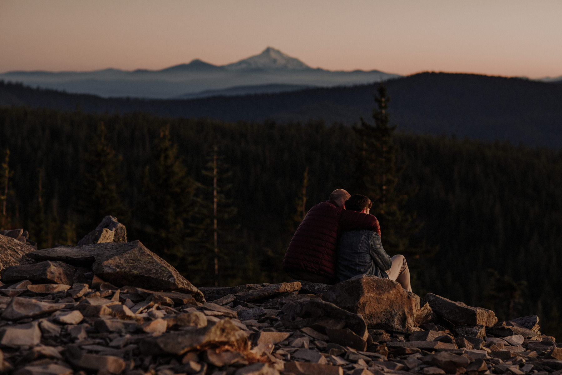 Mount Hood Same Sex Engagement Session