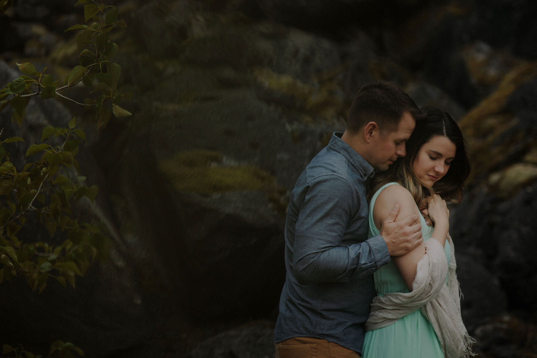 intimate oregon couples session