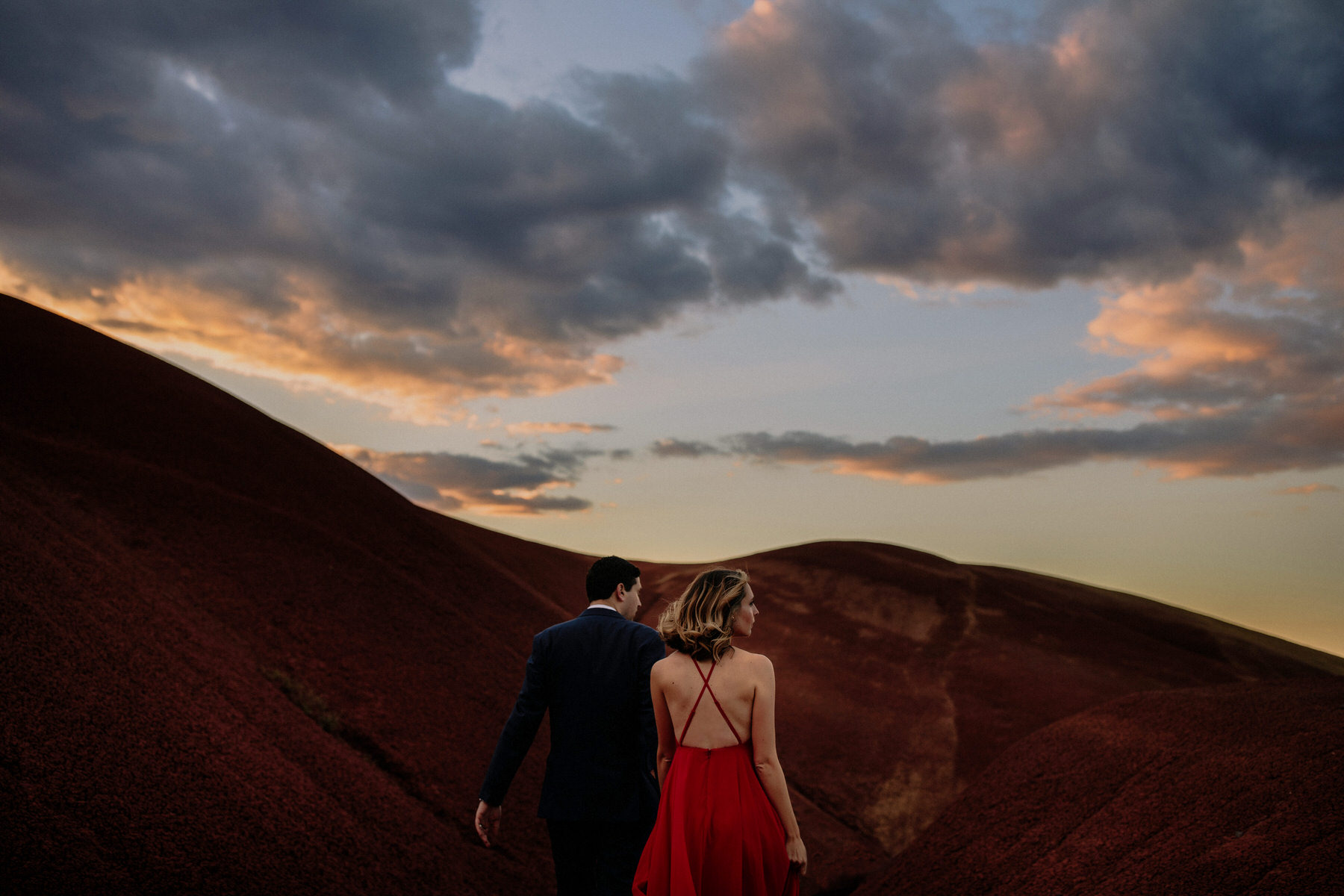 Painted Hills Sunset Engagement Session