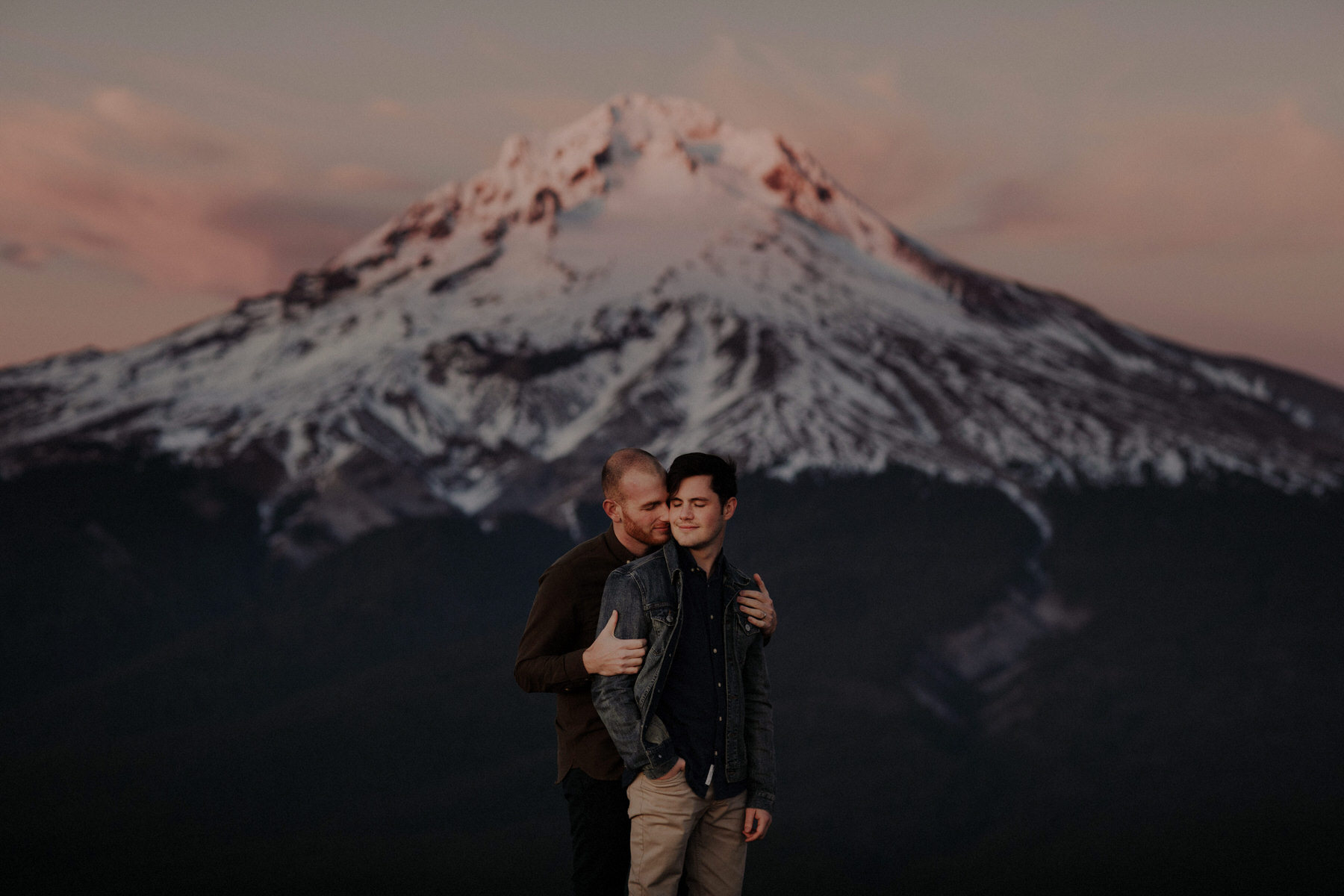 gay engagement session mt hood