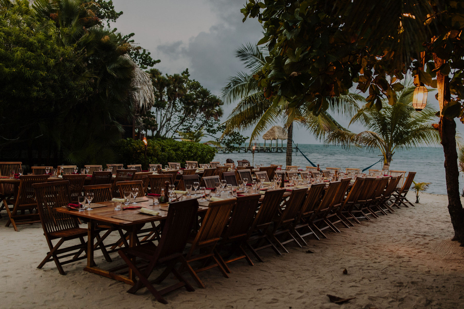 belize wedding reception